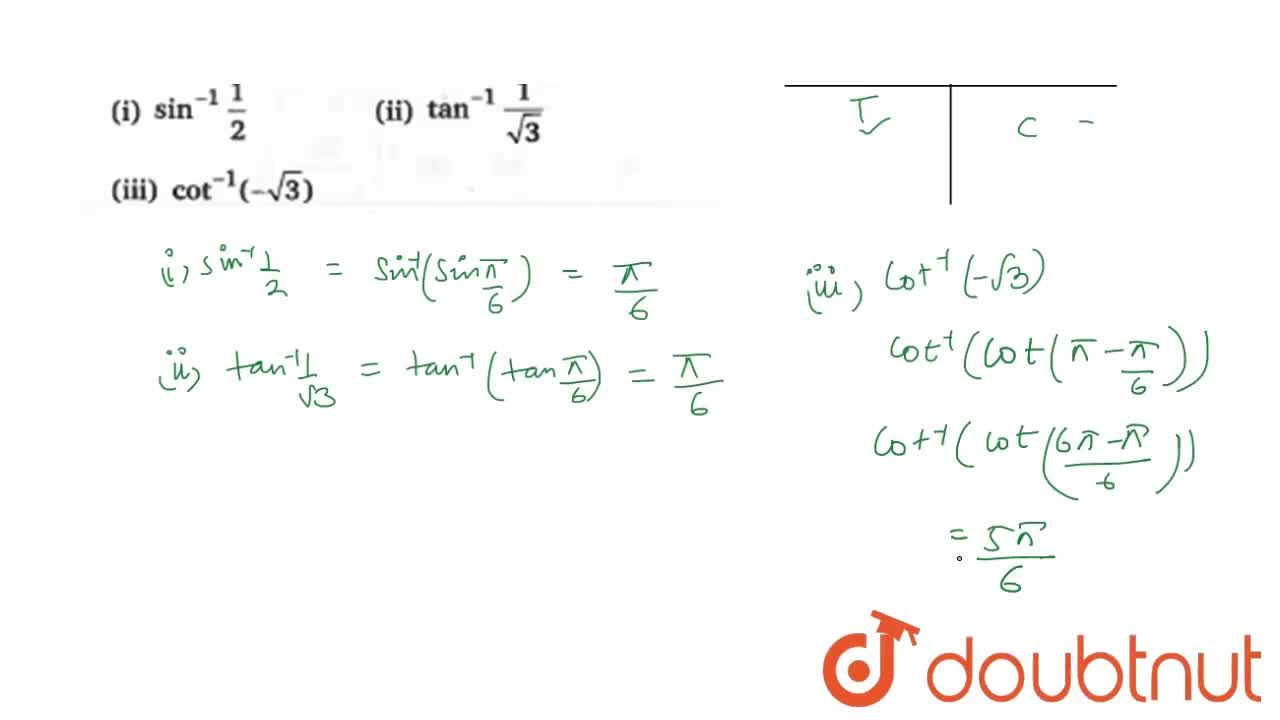 Solution for Find  the principal  value of the following  <br>