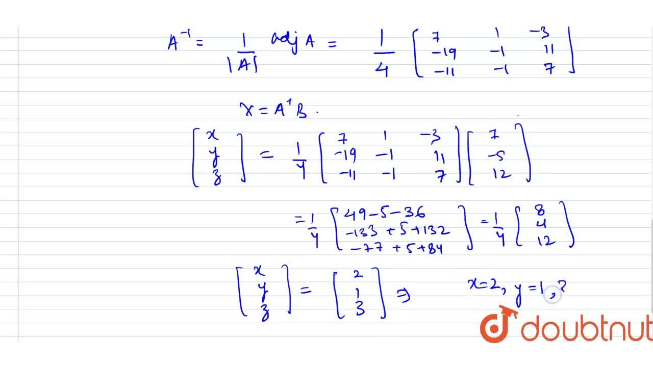 Solution for Solve system of linear equations, using matrix met