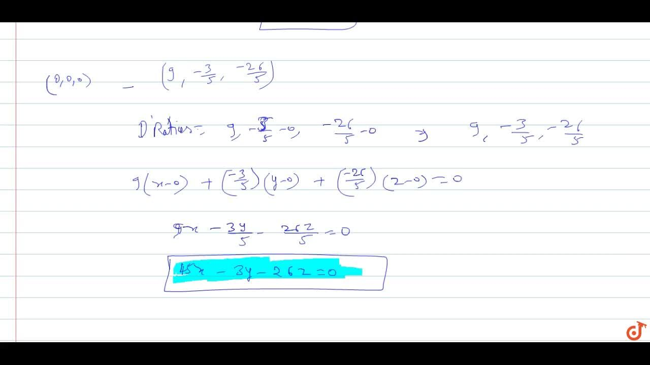 Find the equation to the straight line drawn from the origin to intersect the lines  3x +2y +4z -5 =0 = 2x -3y +4z +1 and 2x - 4y + z+ 6-0 = 3x - 4y +z-3