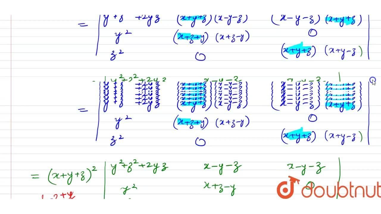 Solution for Prove that :  {:((y+z)^(2),x^(2),x^(2)),(y^(2),(x