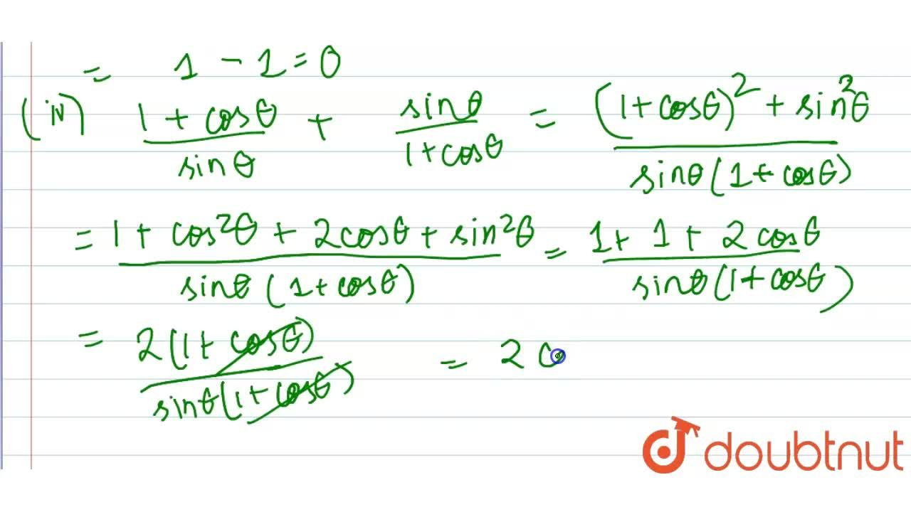 Solution for Prove that  :  <br>  (i) sinthetacos(90^(@)-theta