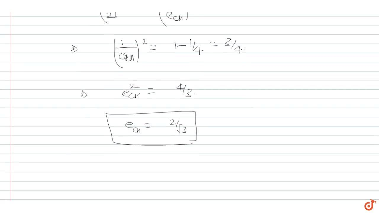 Solution for Ecceptricity of the hyperbola conjugate to the hyp