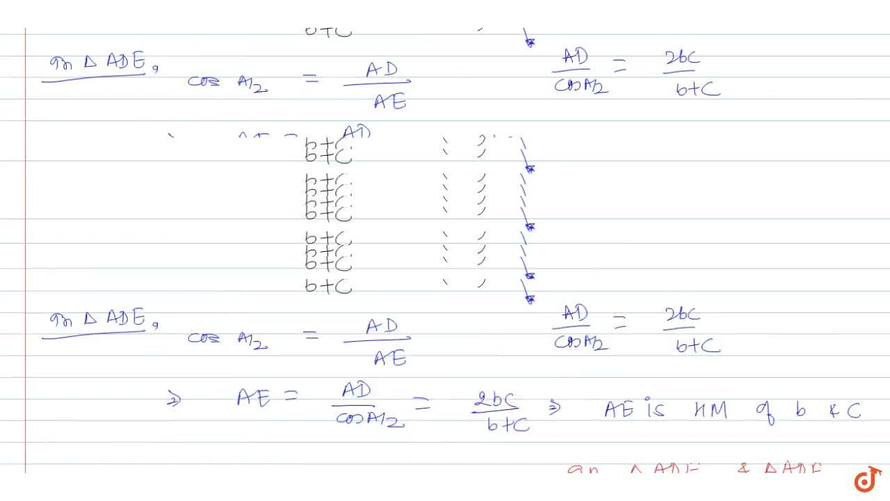 Solution for  Internal bisector of ,_A of triangle ABC meets
