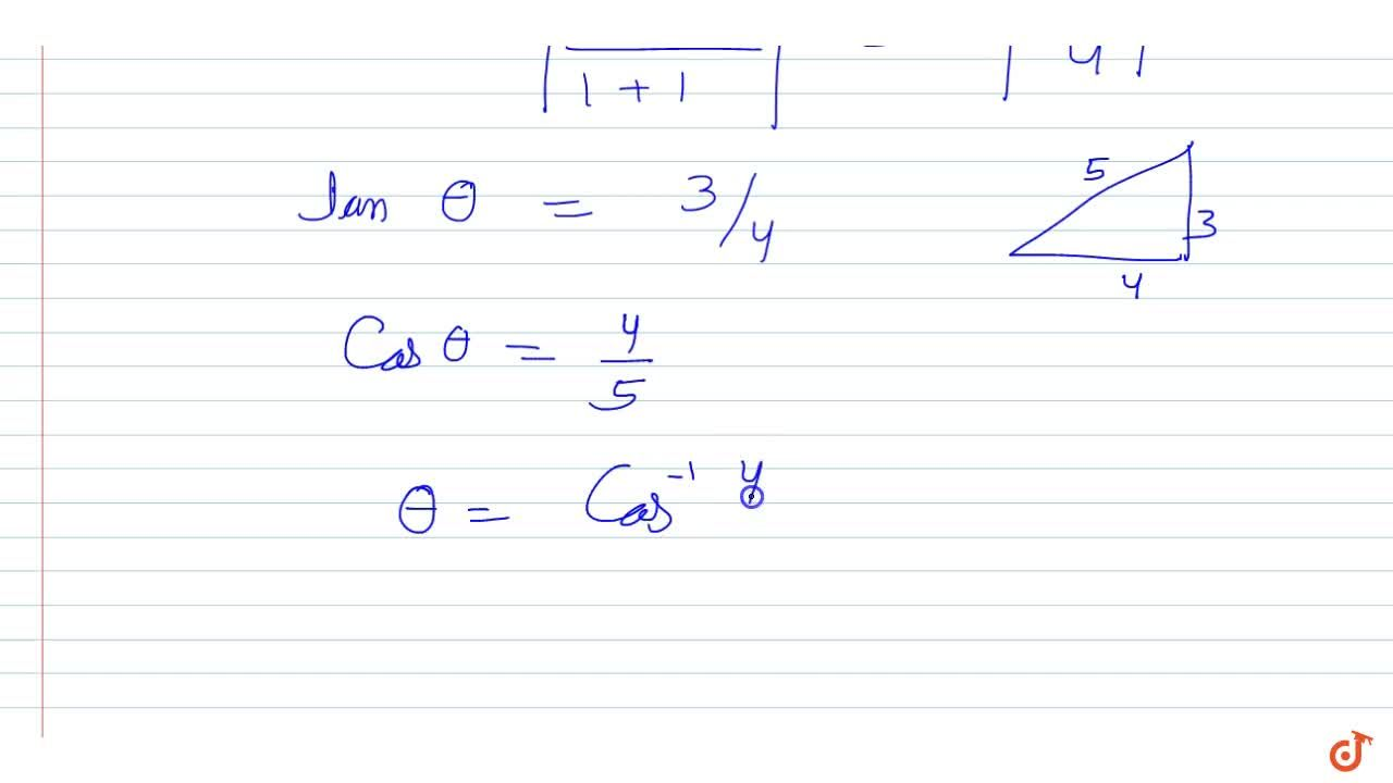 Solution for The acute angle between the medians drawn from the