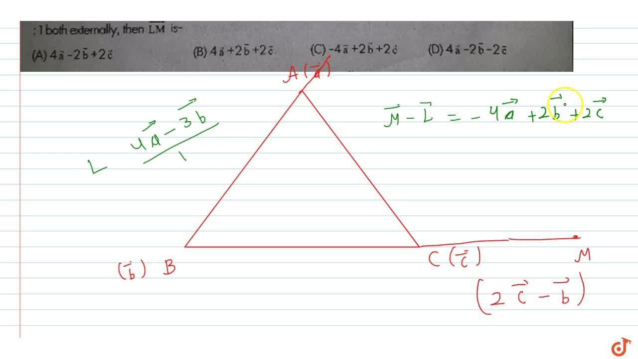 Solution for   The position vectors of points A, B, C are res