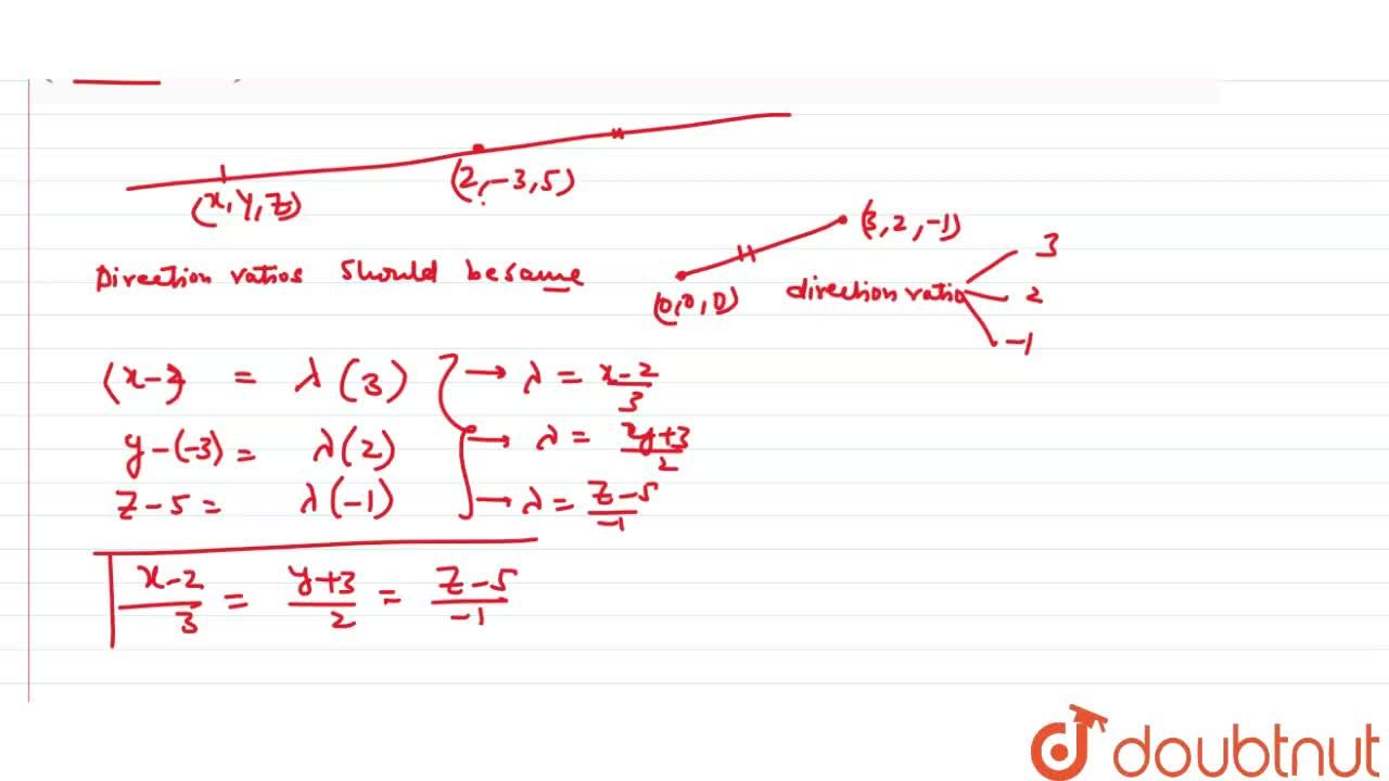 Solution for Find the  equation of a line passing through the p