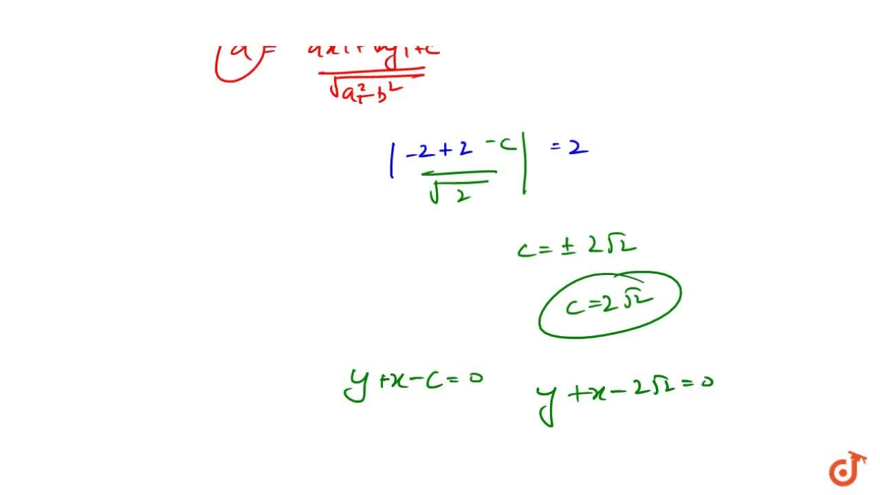 The equation of the tangent of the circle x^2+y^2+4x-4y+4=0