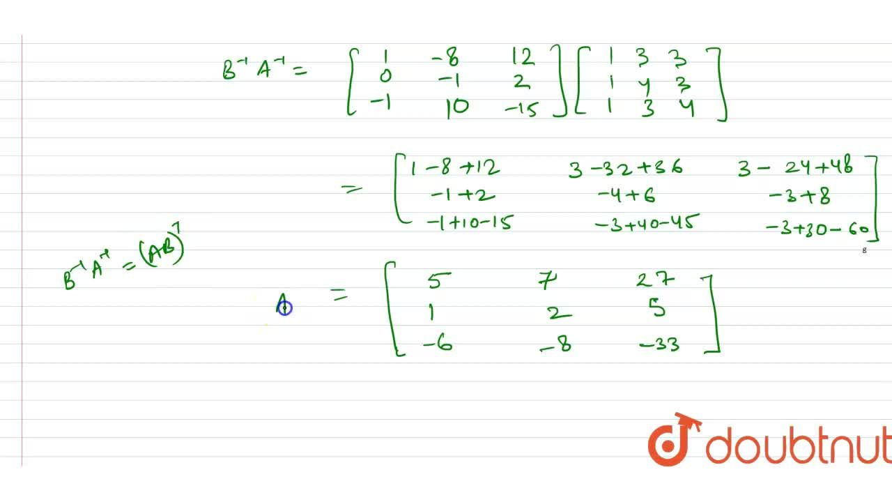 """Solution for If A^(-1)=