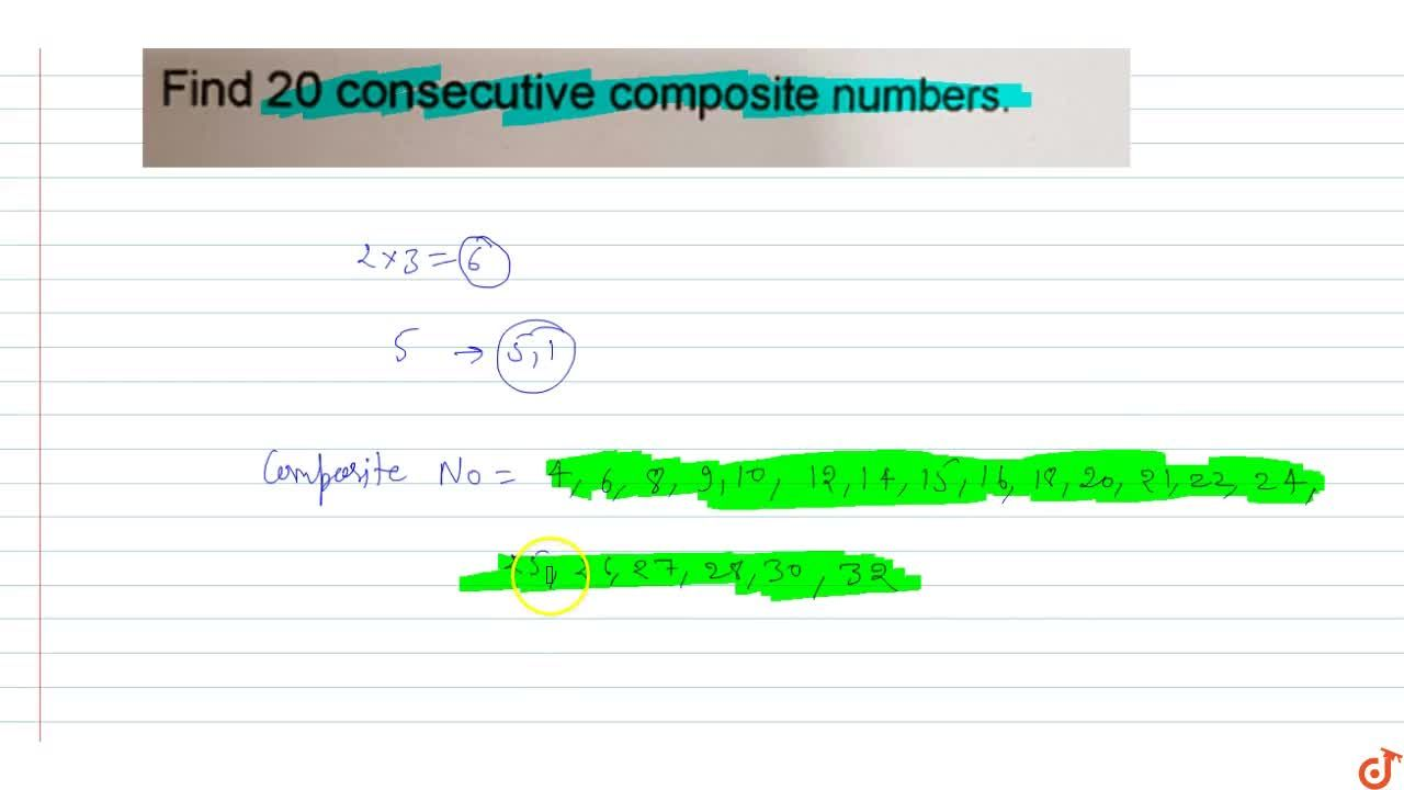 Solution for Find 20 consecutive composite numbers.