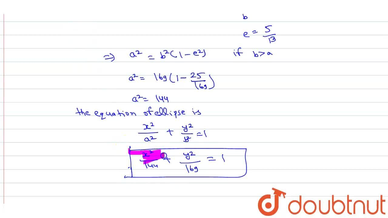 Solution for Find the equation of ellipse whose vertices are (