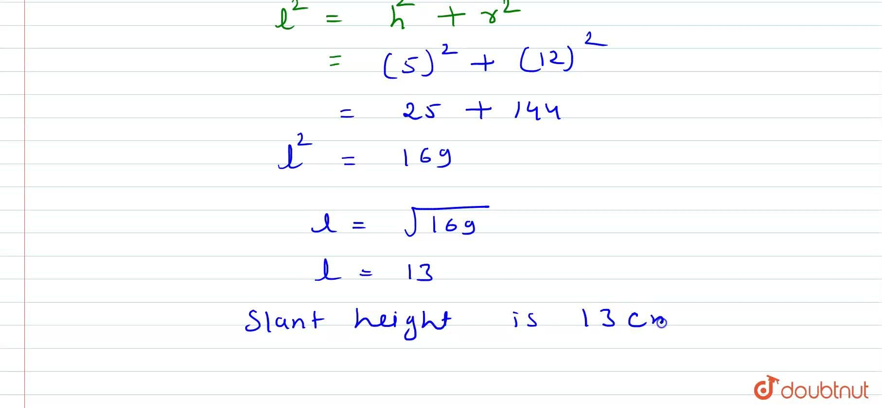 Solution for The circumference of the base of a cone is 24 pi