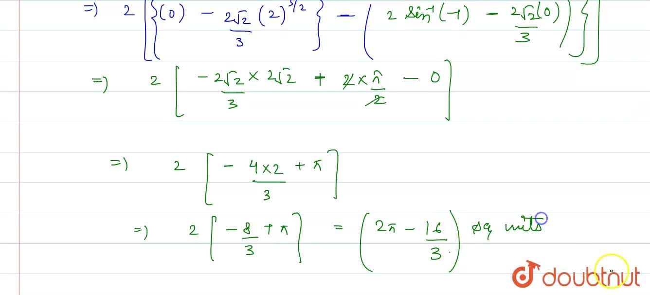 Solution for Find the area of the region bounded by the curve