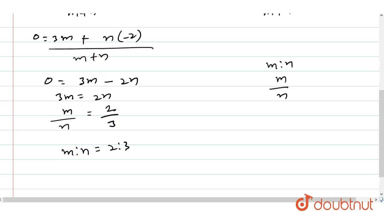 Find the ratio in which Y-axis divides the line segment joining the points (3, 4) and (-2, 5).