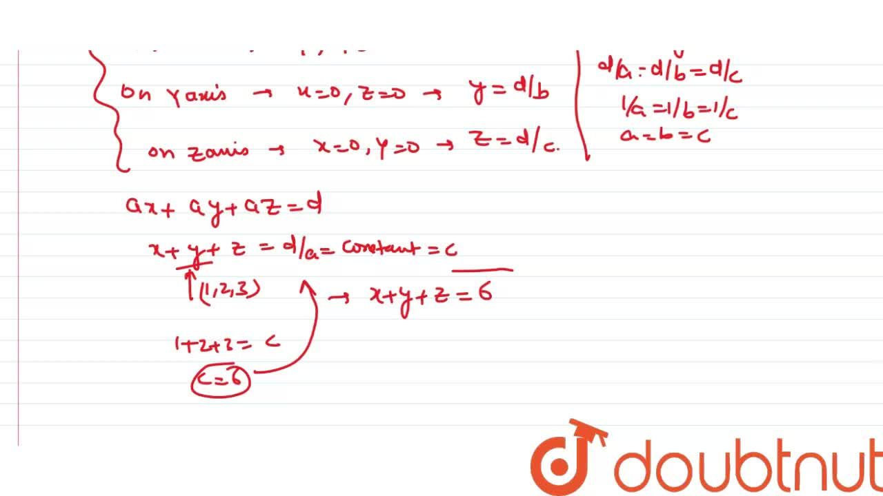 Solution for Find the equation of a plane passes through the po