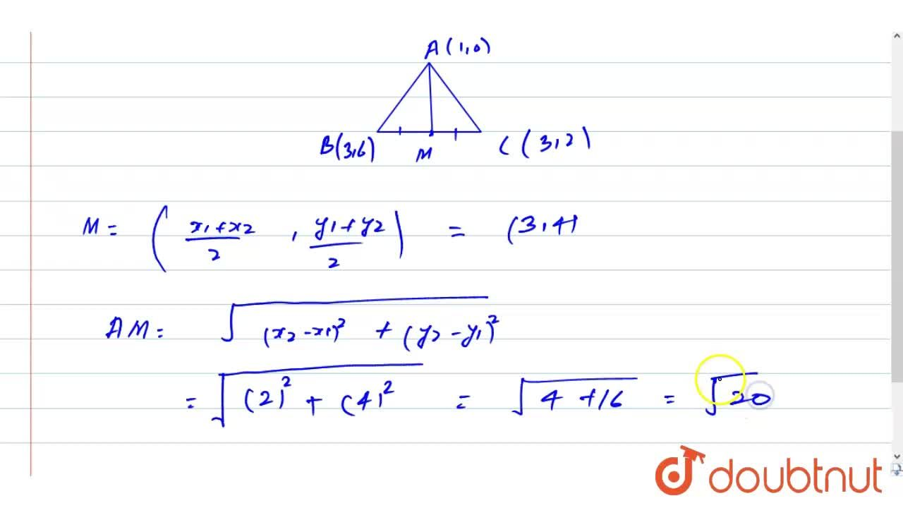 Solution for The co-ordinates of the vertices of a DeltaABC a