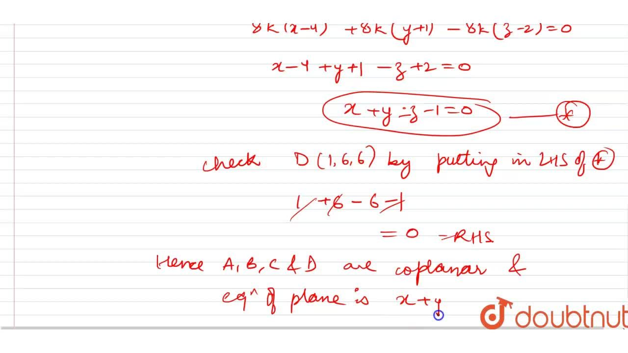 Solution for Show that the point A(4,-1,2), B(-3,5,1), C(2,3,4