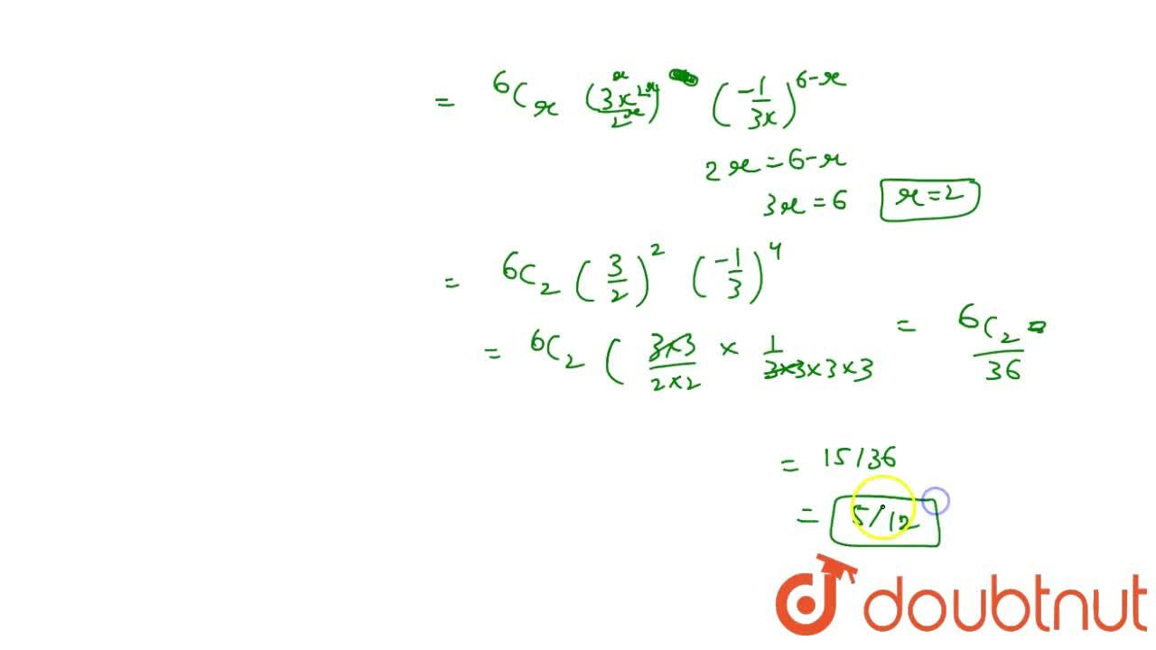 Solution for Find the term independent of x (constant term) in