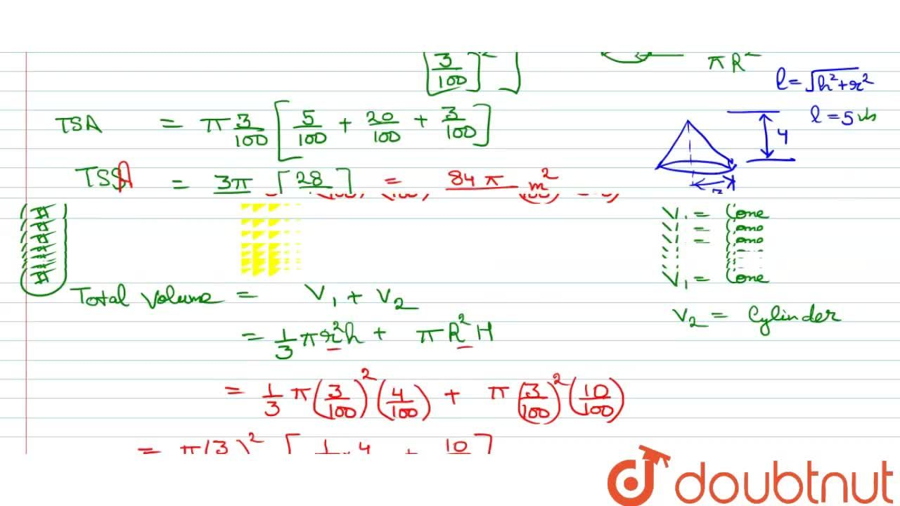 Solution for The following figure shows a model of rocket consi