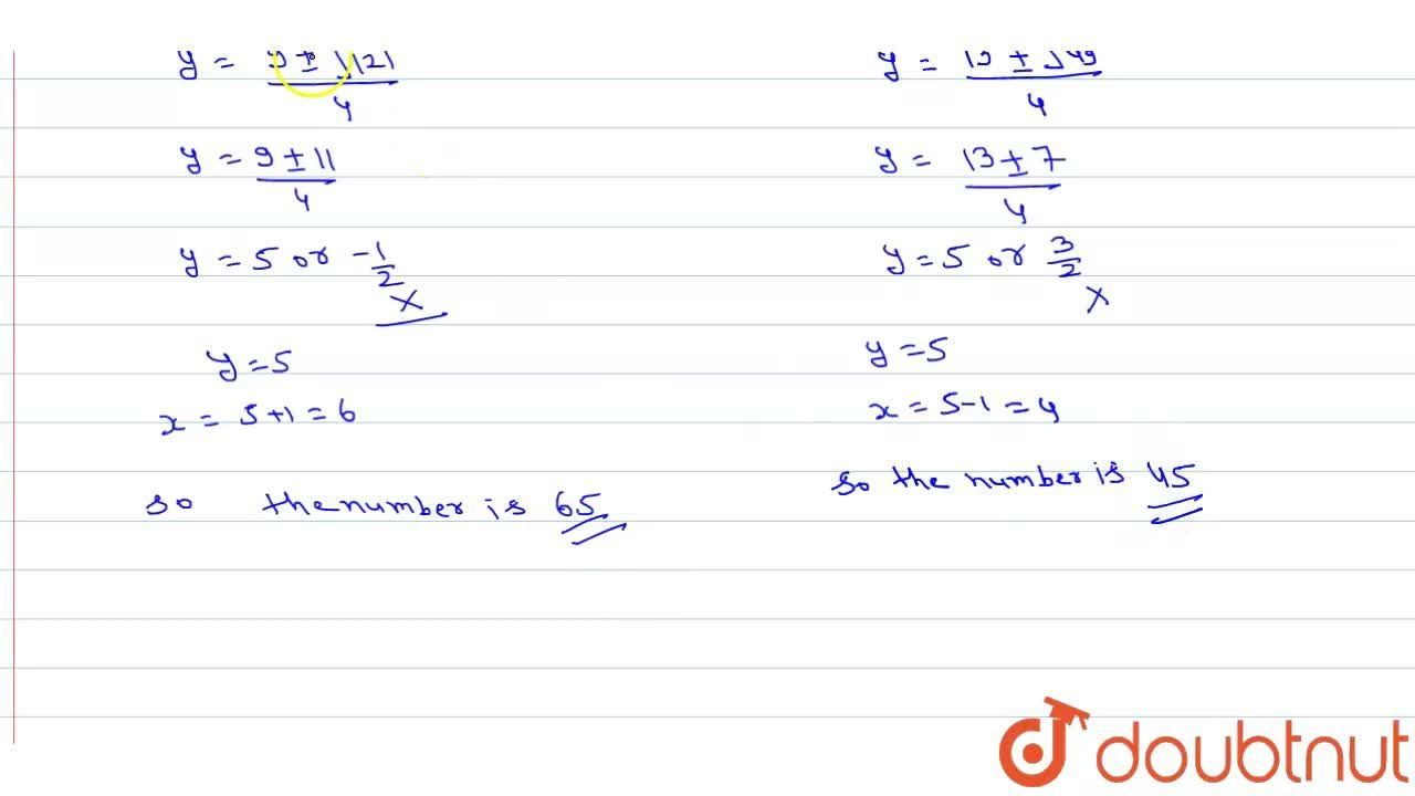 Solution for A two digit number is made of two consccutive digi