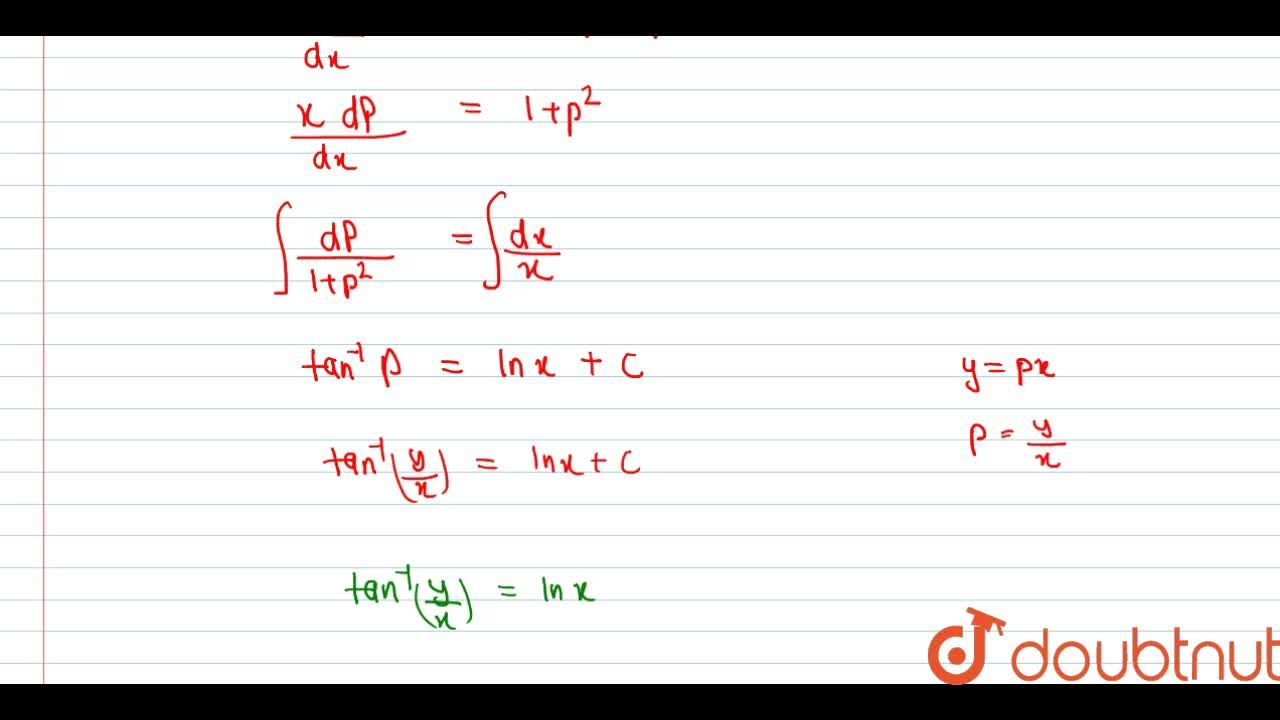 Solution for Solve the following differential equations <br> (