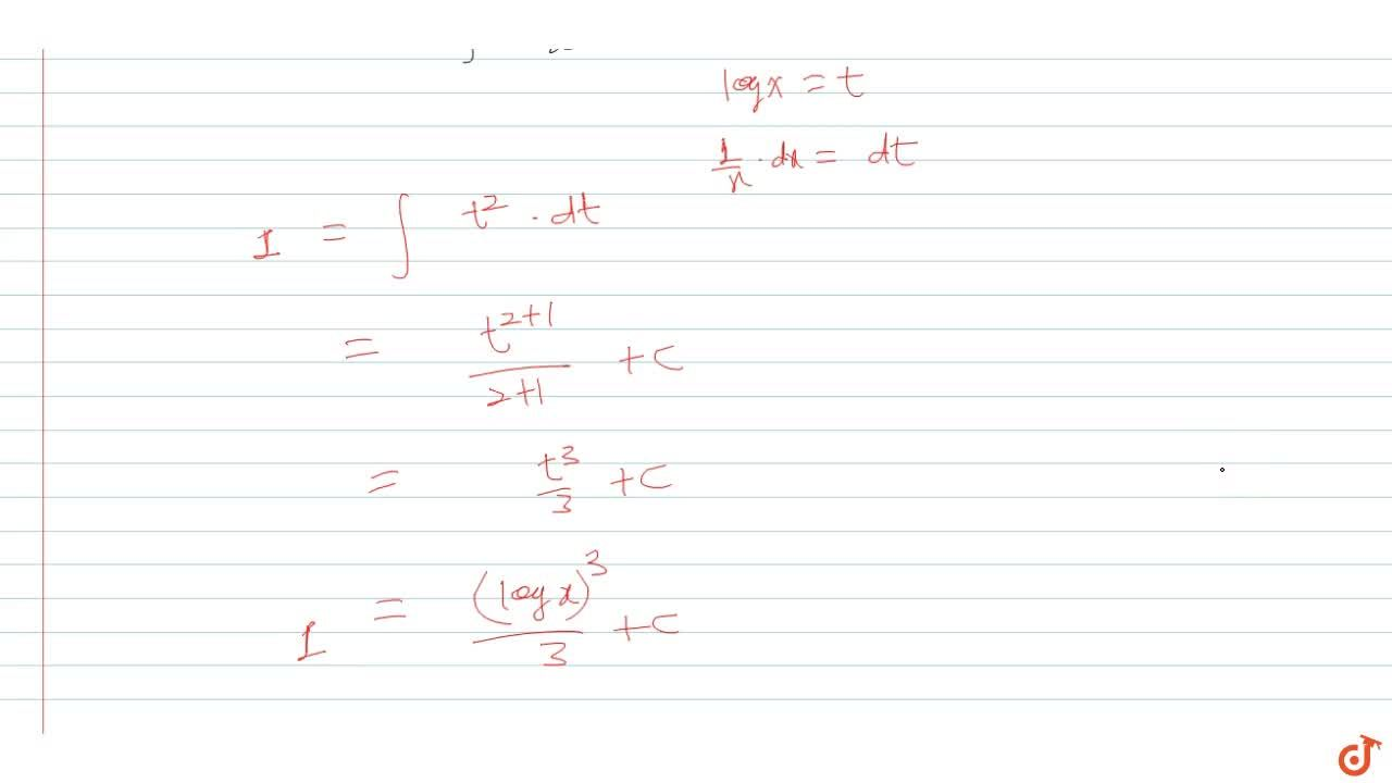 Solution for Solve  int((logx^x)^2),(x^3)*dx