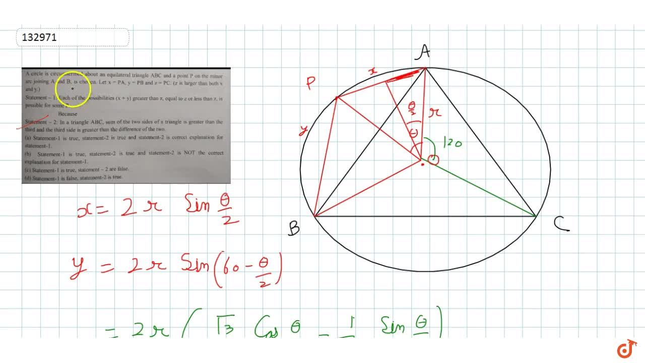 Solution for Statement -1: Each of the possibilities (x + y) gr