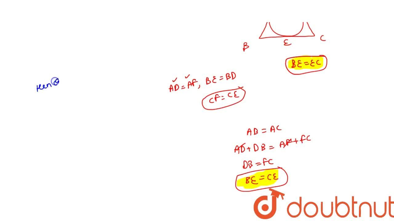 The incircle of an isoceles triangle ABC, with AB=AC, touches the sides AB,BC and CA at D,E and F respecrively. Prove that E bisects BC.