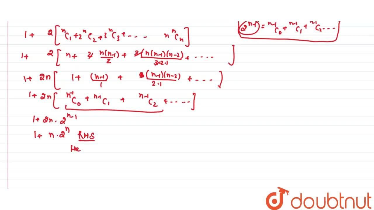 """Solution for """"if """"(1+x)^(n)=C_(0)+C_(1).x+C_(2).x^(2)+C_(3).x^"""