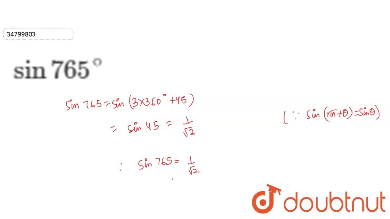 Solution for Find the values of trignometric functions in Quest