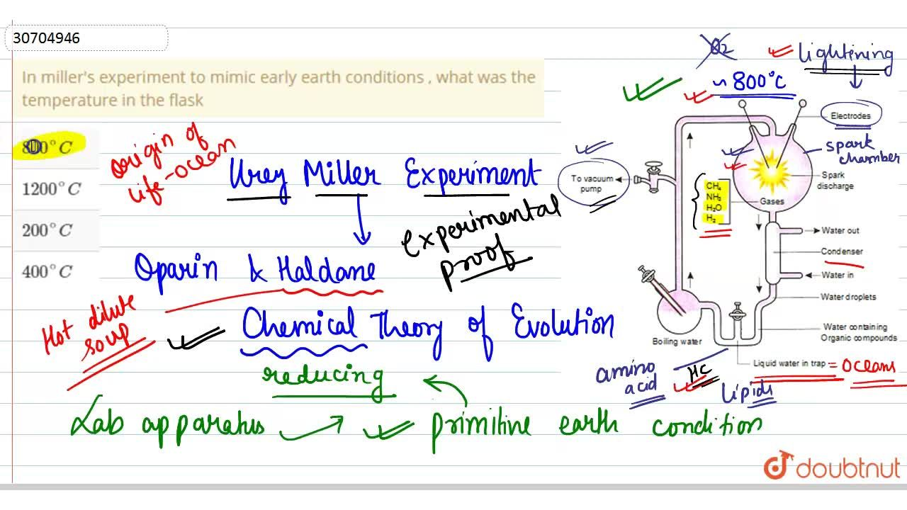 Solution for In miller's experiment  to mimic early earth condi