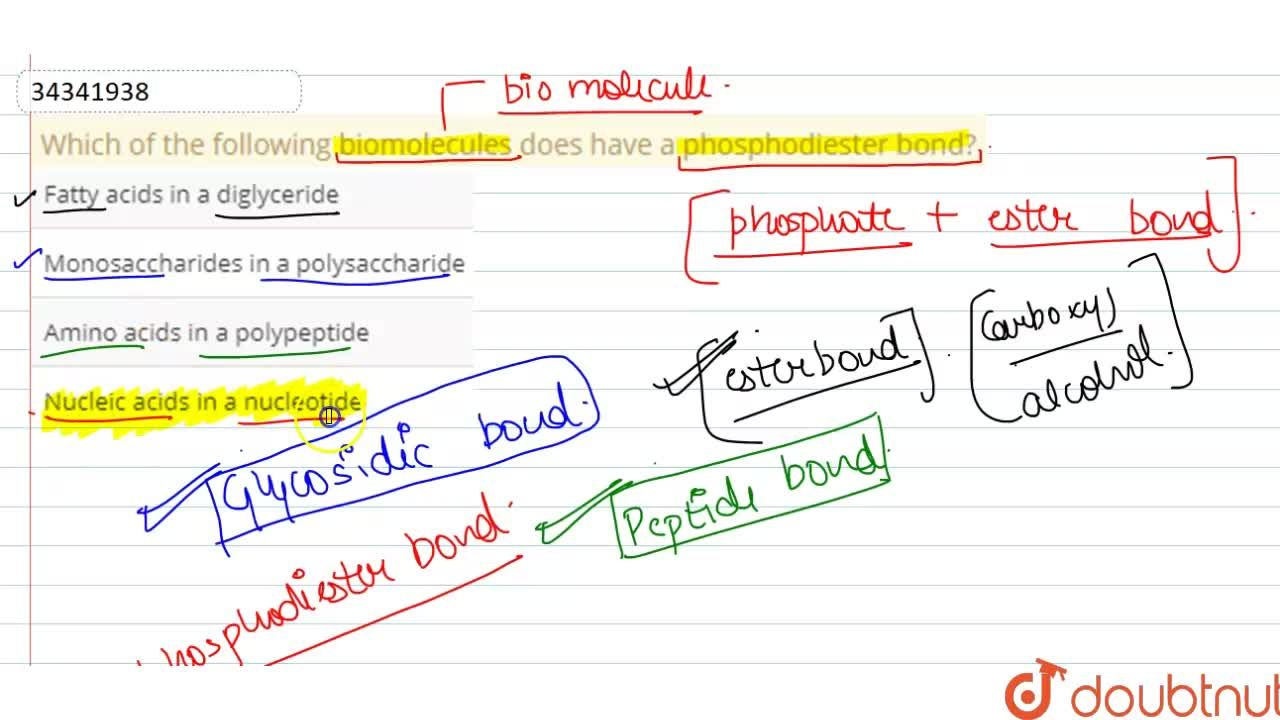 Solution for Which of the following biomolecules does have a ph