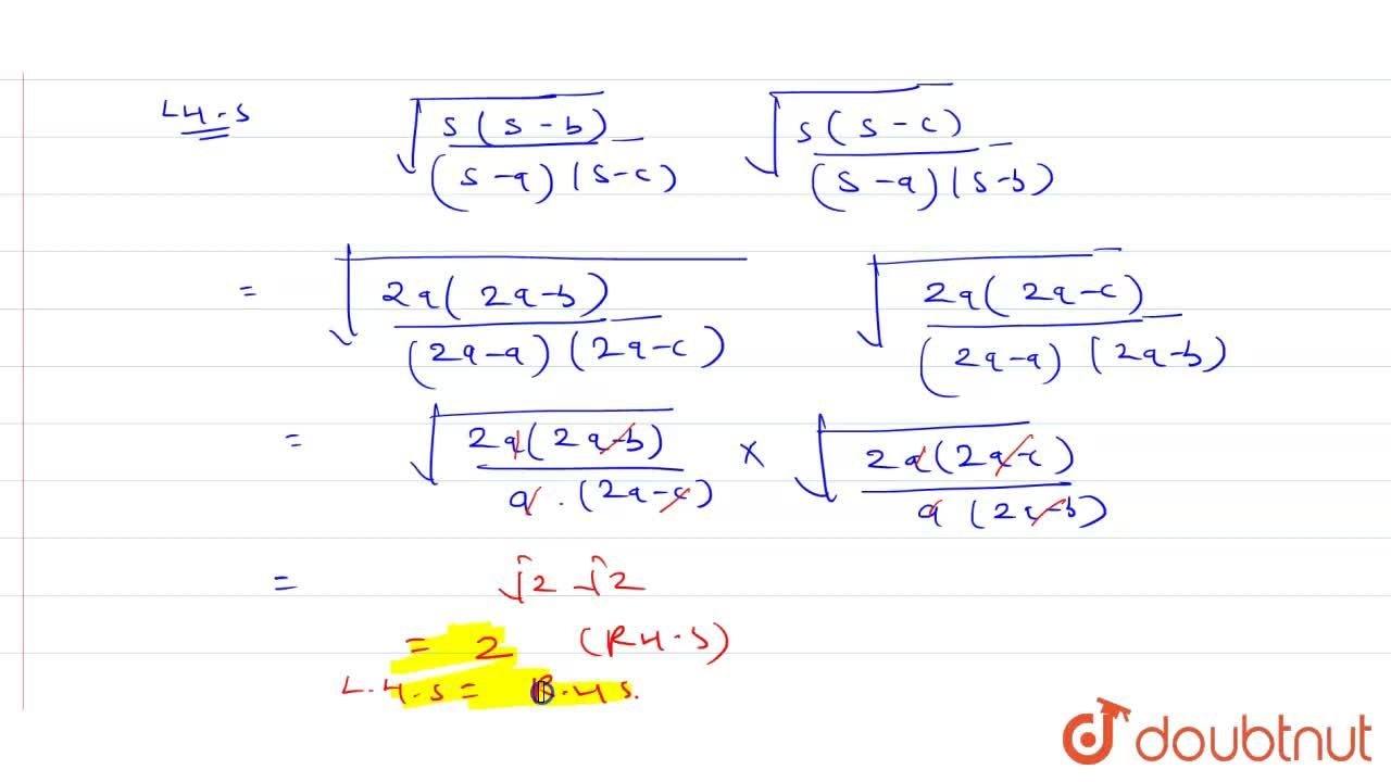 Solution for In DeltaABC, if b+c=3a, then prove that: <br>