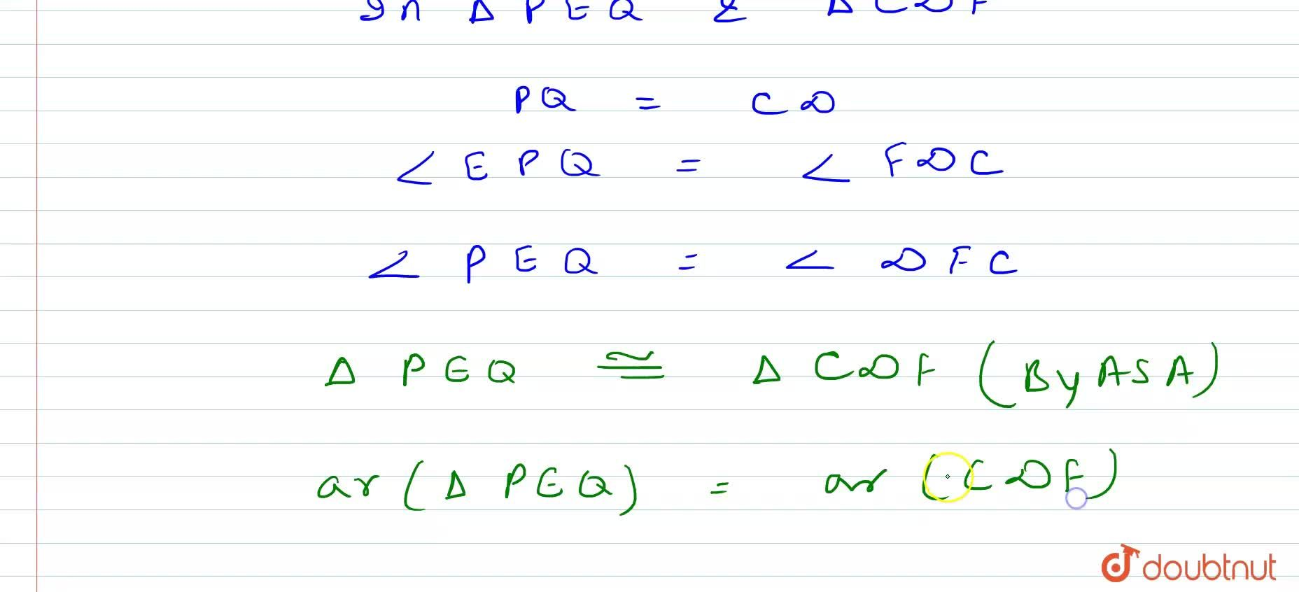In Figure, P S D A is a   parallelogram in which P Q=Q R=R S\ a n d\ A P  B Q  C Rdot Prove that a r\ (\ P Q E)=\ a r\ (\ C F D)dot