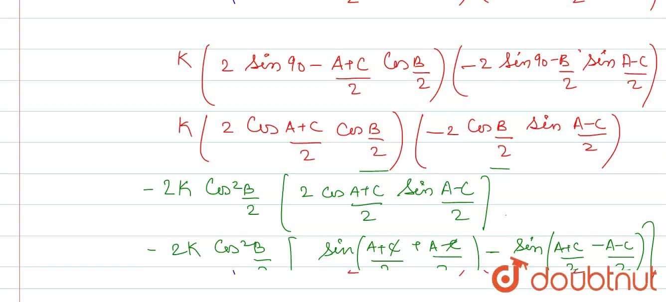 Solution for In DeltaABC, prove that: <br> b(cosA-cosC)=2(c-