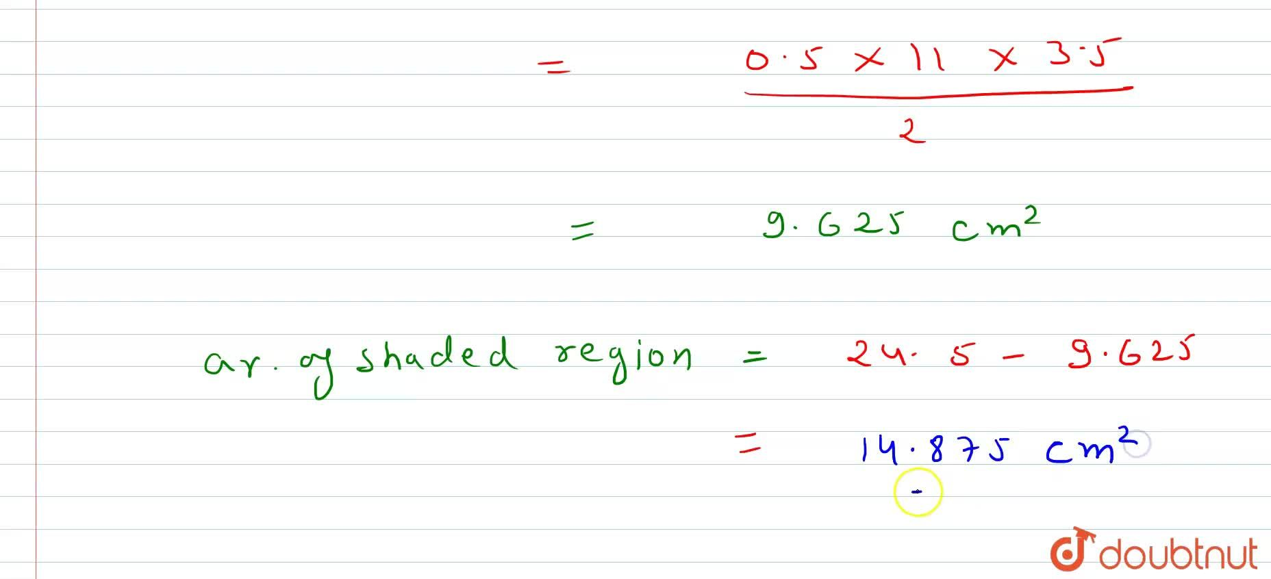 Solution for In Fig. 15.101, A B C D is a   trapezium of are