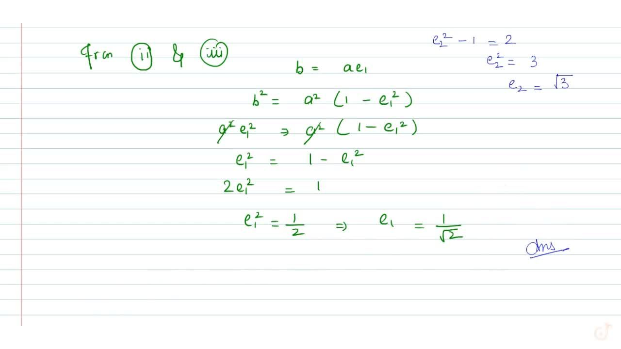 Solution for If hyperbola (x^2),(b^2)-(y^2),(a^2)=1 passes th