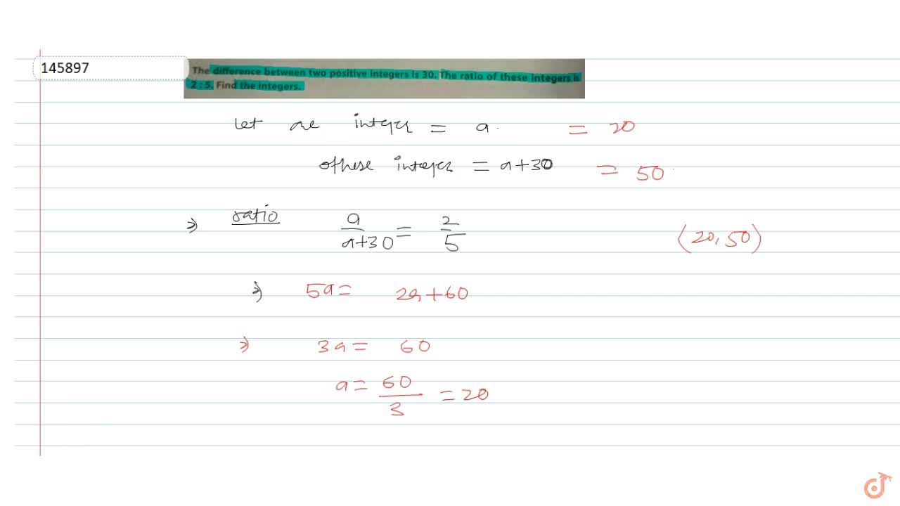 Solution for The difference between two positive integers is 3