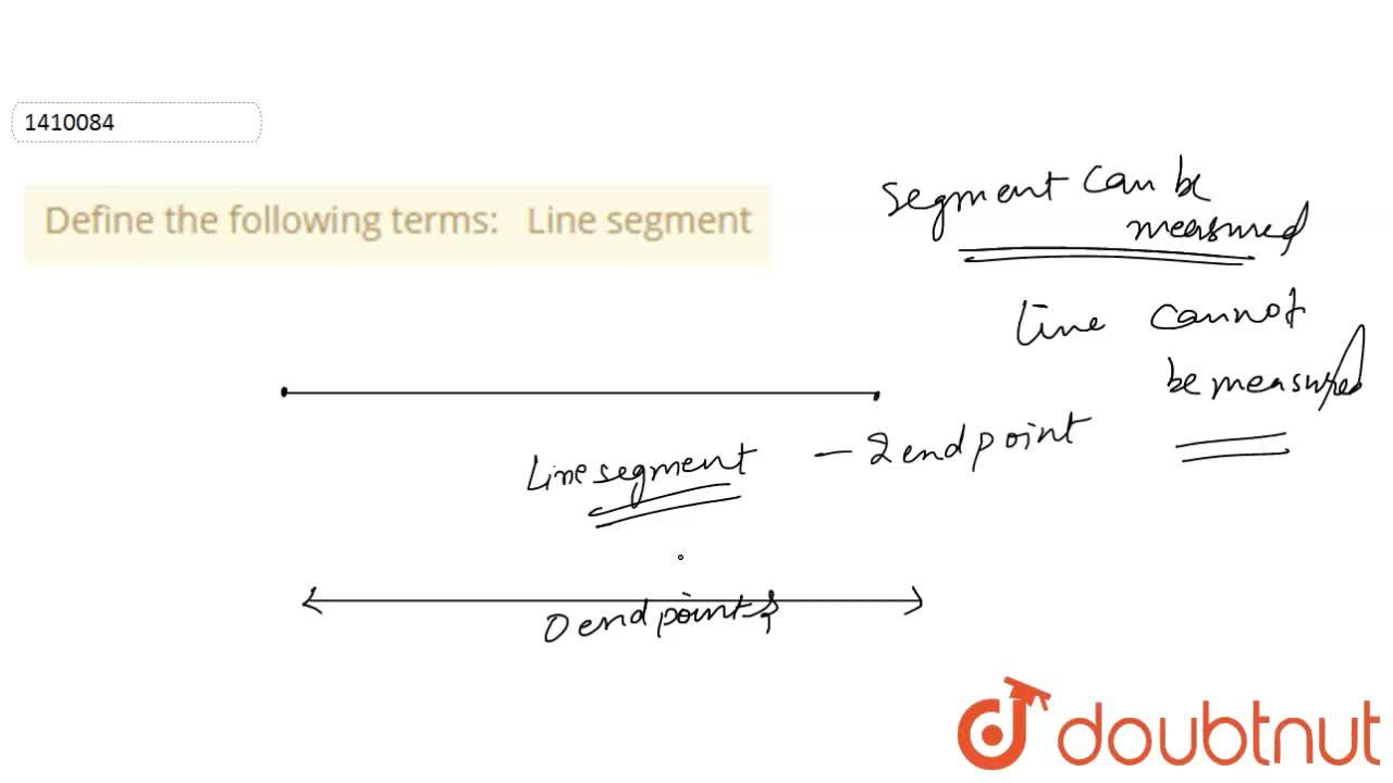 Solution for Define the following   terms: Line segment