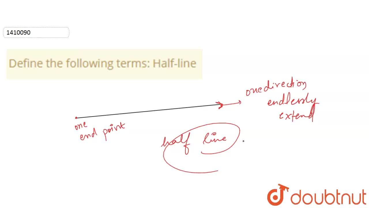 Solution for Define the following   terms: Half-line