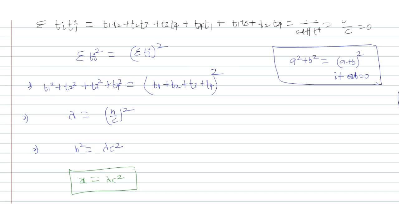Solution for  If the sum of the slopes of the normal from a poi