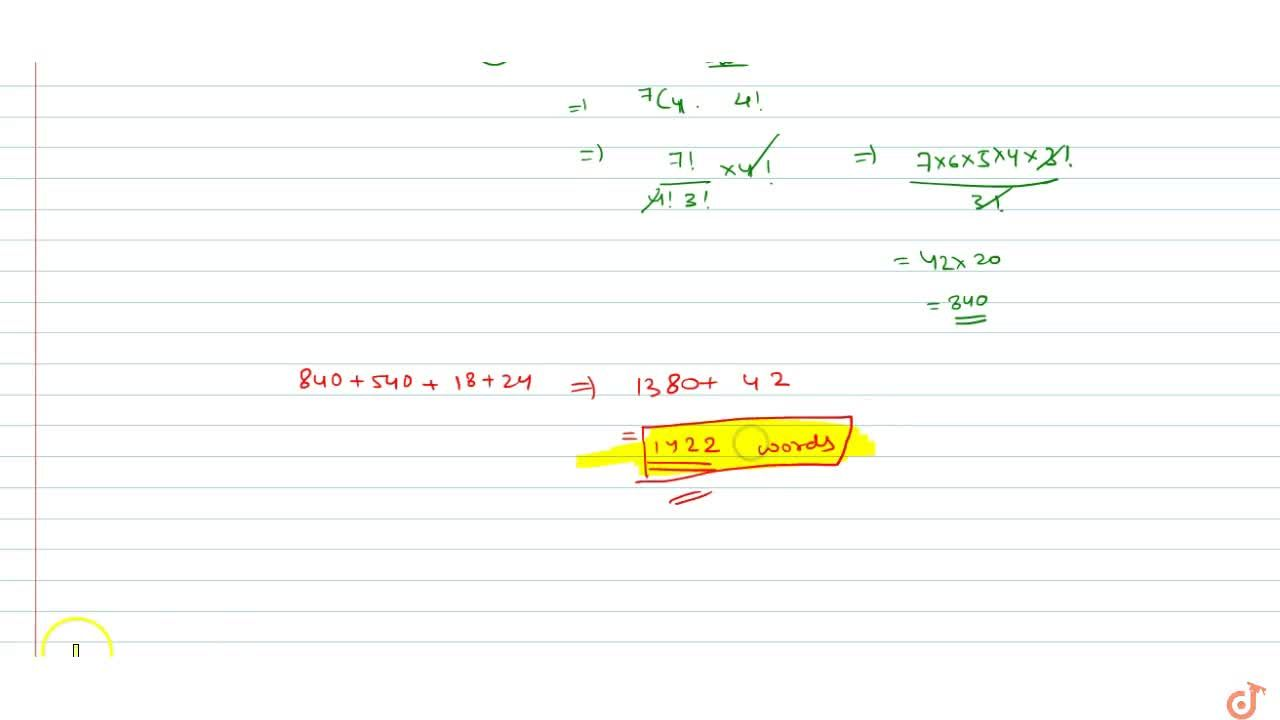 Solution for Find the number of (i) combinations and (lii) perm