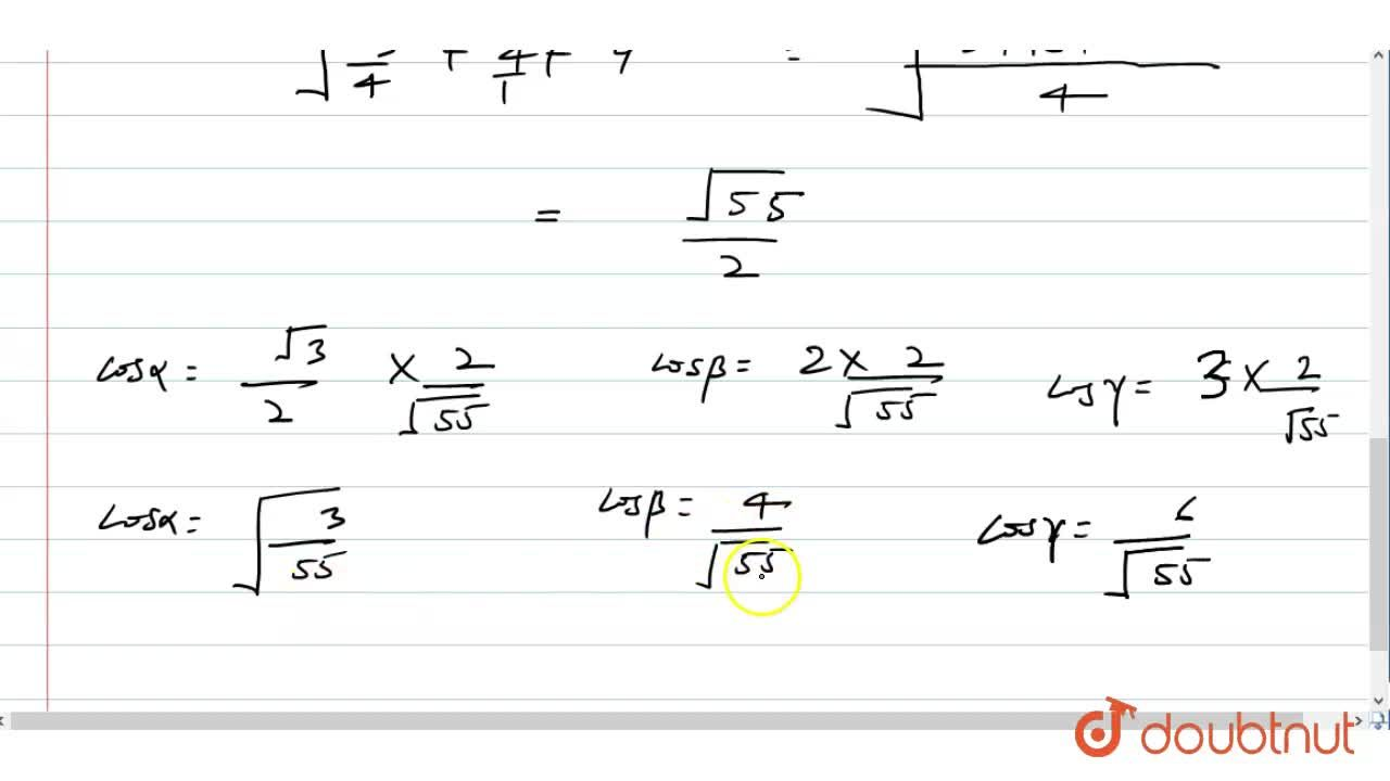 Solution for The Cartesian equations of a line AB are (2x-1),(