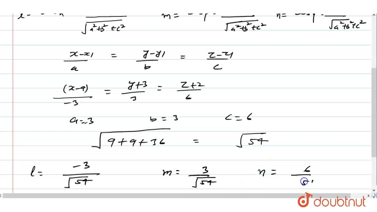 Solution for The equation of a line given by (4-x),3=(y+3),3=(