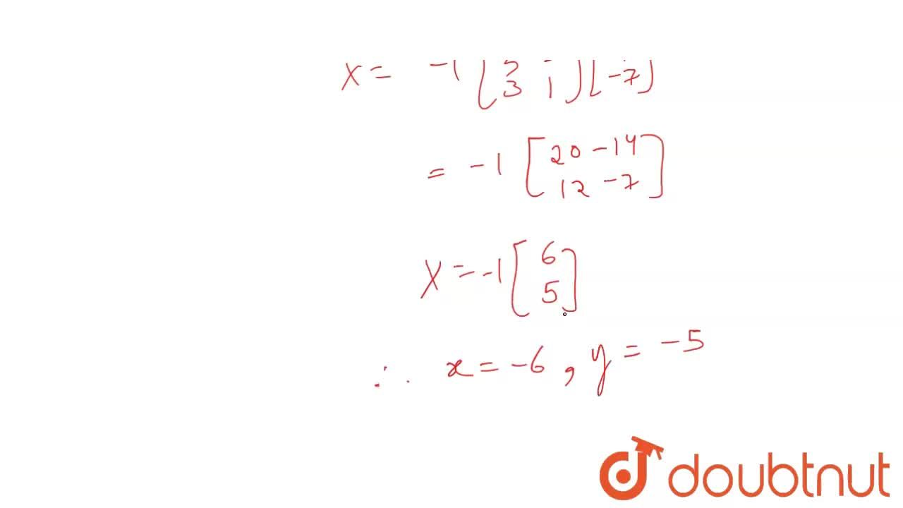 Solution for Use matrix method to   solve the following system
