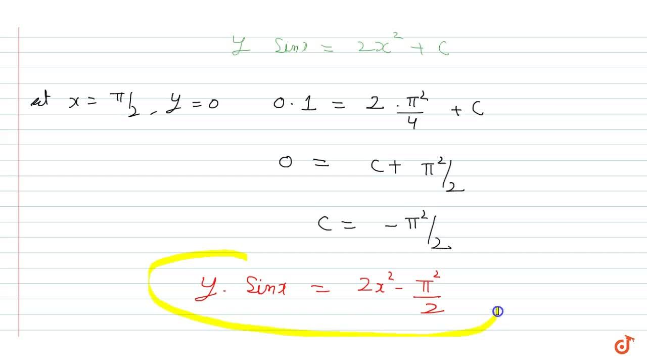 Solution for  Solve the differential equation: dy,dx + y cotx