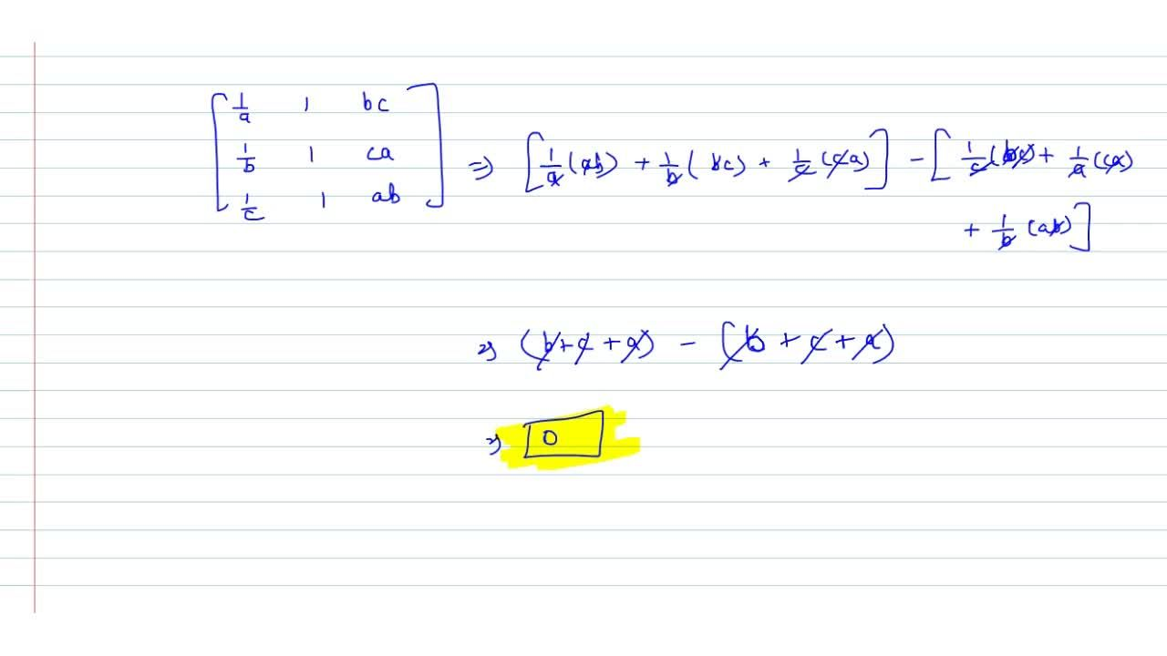 Solution for  Prove [[1,a,1,bc],[1,b,1,ca],[1,c,1,ab]]=0