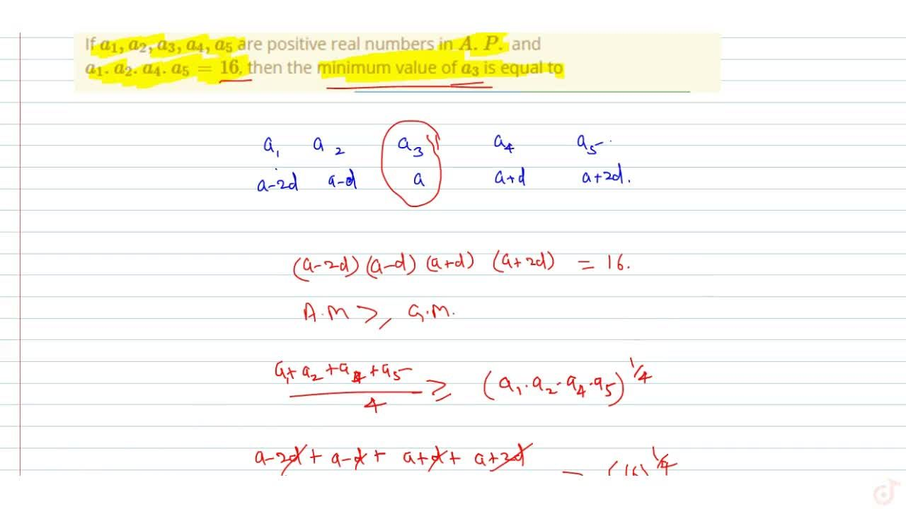 Solution for If  a_1, a_2, a_3, a_4, a_5 are positive real nu