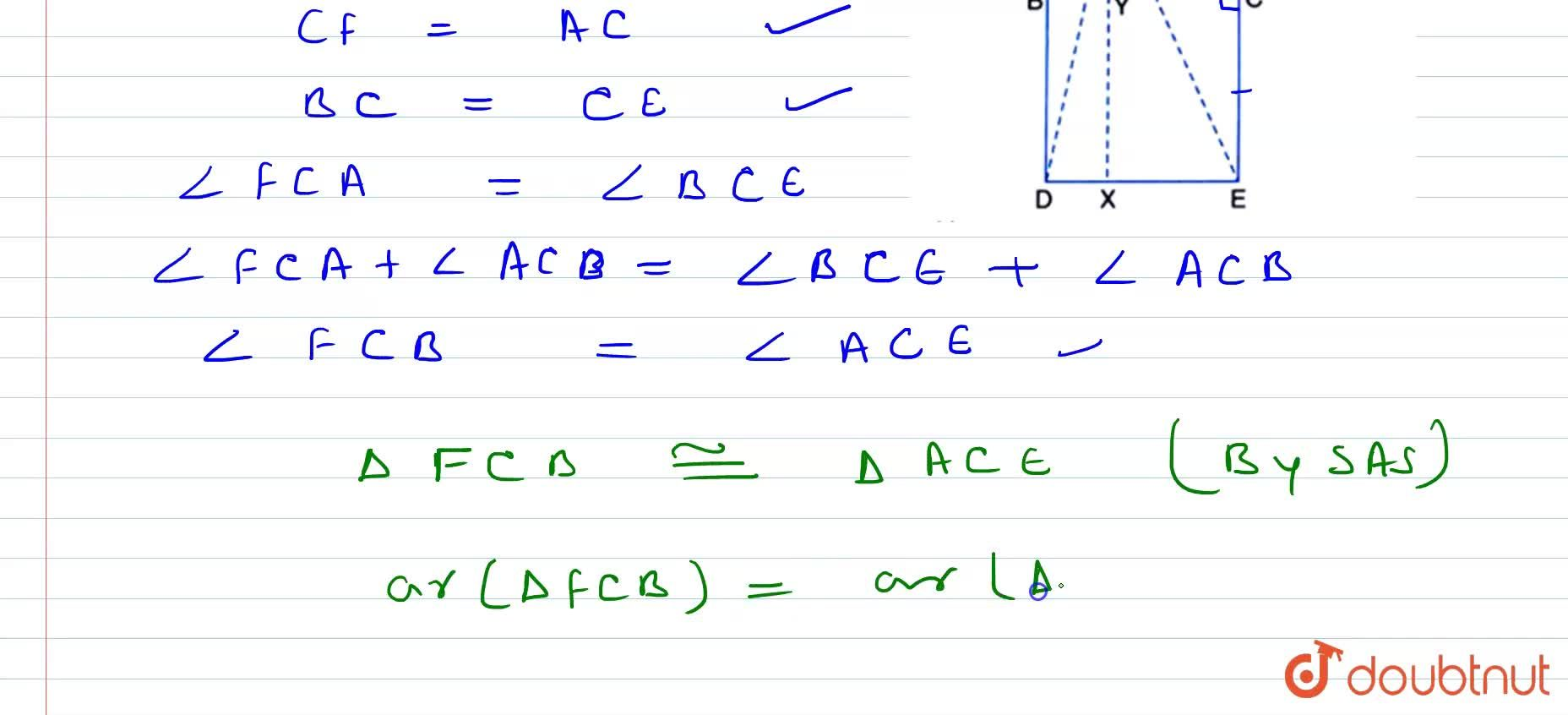 Solution for In Figure, A B C is a right   triangle right an