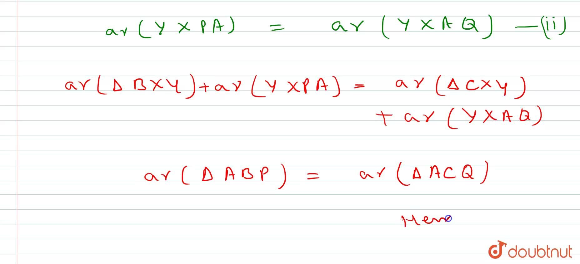 Solution for In Figure, X\ a n d\ Y are the   mid-points of