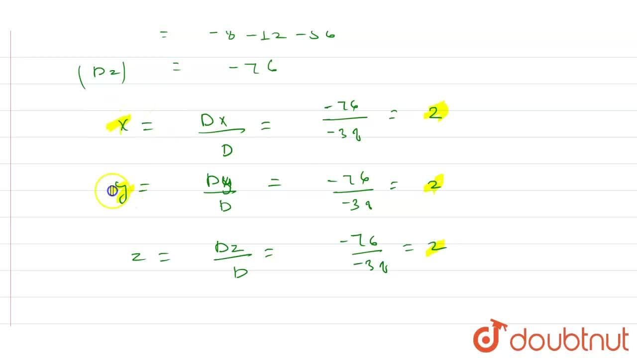 Solution for Solve the following systems of liner a equations b